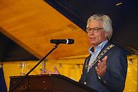 ZEILEN: GROU: 29-07-2016, SKS Skûtsjesilen loting Grou, Burgemeester Ferd Crone (Leeuwarden), ©foto Martin de Jong