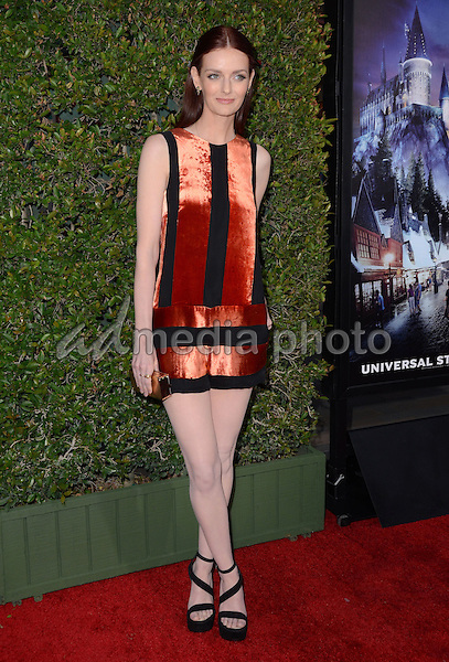 "05 April 2016 - Universal City, California - Lydia Hearst. Arrivals for Universal Studios' ""Wizarding World of Harry Potter Opening"" held at Universal Studios Hollywood. Photo Credit: Birdie Thompson/AdMedia"