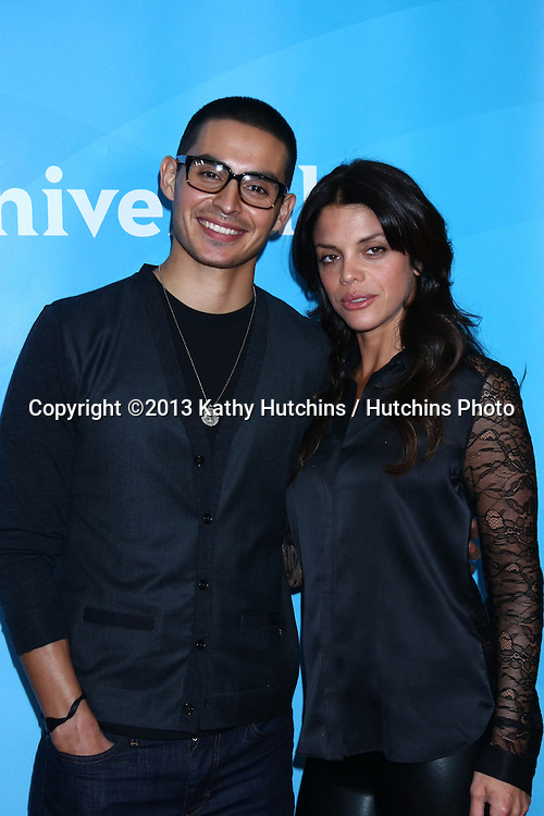LOS ANGELES - JAN 7:  Manny Montana, Vanessa Ferlito attends the NBCUniversal 2013 TCA Winter Press Tour at Langham Huntington Hotel on January 7, 2013 in Pasadena, CA