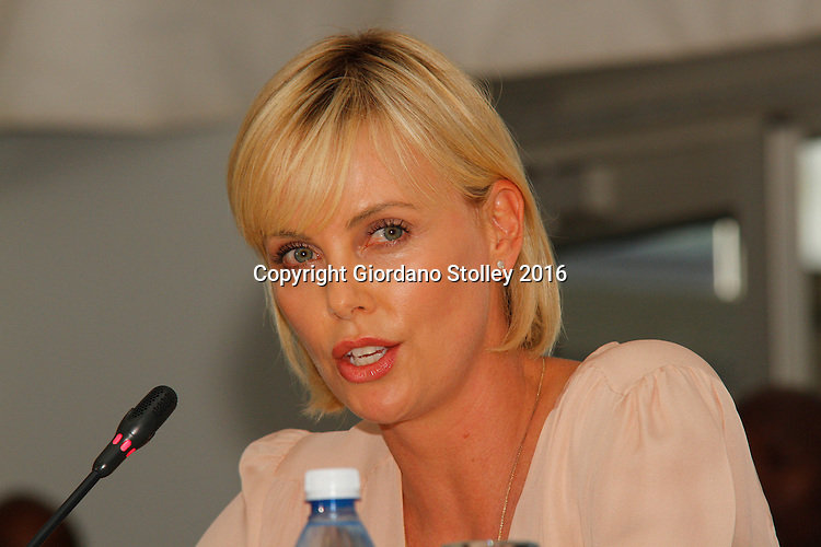 DURBAN - 18 July 2016 - Actress Charlize Theron speaks at the opening press conference of the 21st World Aids Conference being held in Durban. - Allied Picture Press/APP