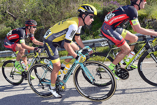 20.02.2016. Alportel, Portugal.  ROGLIC Primoz (SLO) Rider of TEAM LOTTO NL - JUMBO in action during stage 4 of the 42nd Tour of Algarve cycling race with start in S. Brss de Alportel and finish in Tavira on February 20, 2016 in Tavira, Portugal.