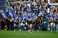Photo: Richard Lane/Richard Lane Photography. Bath Rugby v Biarritz Olympique. Heineken Cup. 10/10/2010. Bath players run out.