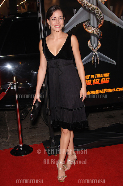 """Actress EMMANUELLE VAUGIER at the Los Angeles premiere of """"Snakes on a Plane"""" at the Chinese Theatre, Hollywood..August 17, 2006  Los Angeles, CA.© 2006 Paul Smith / Featureflash"""