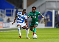 11th July 2020; The Kiyan Prince Foundation Stadium, London, England; English Championship Football, Queen Park Rangers versus Sheffield Wednesday; Moses Odubajo of Sheffield Wednesday challenges Olamide Shodipo of Queens Park Rangers