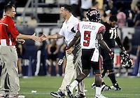 Florida International University football Head Coach Mario Cristobal after the game against the University of Louisiana-Lafayette on September 24, 2011 at Miami, Florida. Louisiana-Lafayette won the game 36-31. .