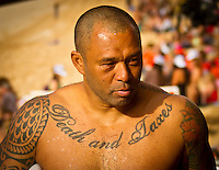 HONOLULU/Oahu/Hawaii.(Nov. 27, 2011) Sunny Garcia (HAW). -- The $250,000 Vans World Cup of Surfing commenced today  in serious 10- to 12-foot surf at Sunset Beach on Oahu's North Shore. The Vans World Cup is the second leg of the 29th annual Vans Triple Crown of Surfing, presented by Rockstar Energy Drink.. Photo: joliphotos.com