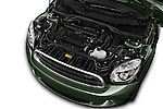 Car Stock 2016 MINI Countryman One 5 Door Hatchback Engine  high angle detail view