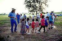 Tradional Cherokee stompdance. Tahlequah, OK