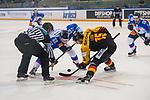 15.04.2018, EnergieVerbund Arena, Dresden, GER, Euro Hockey Challenge, Deutschland vs. Slowakei, im Bild<br /> <br /> <br /> Stefan Loibl (#15, Deutschland), Matej Paulovic (#67, Slowakei), <br /> <br /> Foto &copy; nordphoto / Dostmann