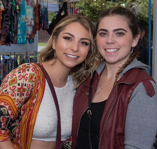 Hailey and Mekayla during the inaugural Bud and Brew Music Festival in Wingfield Park in downtown Reno on Saturday, Sept. 23, 2017.