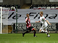Pictured: Alan Tate of Swansea City in action <br />