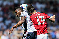 Bolton Wanderers' Sammy Ameobi competing with Nottingham Forest's Danny Fox<br /> <br /> Photographer Andrew Kearns/CameraSport<br /> <br /> The EFL Sky Bet Championship - Bolton Wanderers v Nottingham Forest - Sunday 6th May 2018 - Macron Stadium - Bolton<br /> <br /> World Copyright &copy; 2018 CameraSport. All rights reserved. 43 Linden Ave. Countesthorpe. Leicester. England. LE8 5PG - Tel: +44 (0) 116 277 4147 - admin@camerasport.com - www.camerasport.com