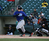2007:  J.R. House of the Norfolk Tides at bat vs the Rochester Red Wings in International League baseball action.  Photo copyright Mike Janes Photography 2007.