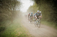 Jonas van Genechten (BEL/Vital Concept - B&B Hotels) coming out of the dust<br /> <br /> 36th TRO BRO LEON 2019 (FRA)<br /> One day race from Plouguerneau to Lannilis (205km)<br /> <br /> ©kramon