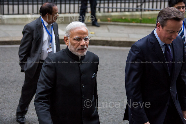 (From L to R) Narendra Modi and David Cameron .<br />