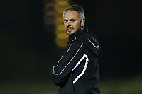 Clapton assistant manager Wayne Seal in charge for the evening during Redbridge vs Clapton, Essex Senior League Football at Oakside Stadium on 14th November 2017