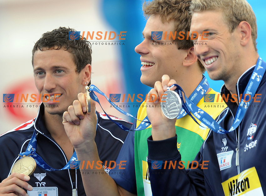 Roma 30th July 2009 - 13th Fina World Championships From 17th to 2nd August 2009....Swimming finals..Men's 100m freestyle..Cesar Cielo Filho (BRA) gold medal and new world record....photo: Roma2009.com/InsideFoto/SeaSee.com