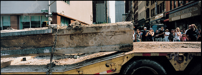 Removal of debris from the World Trade Center, Church Street, New York City, New York, USA, September 26, 2001