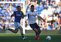 Preston North End's Andrew Hughes  in action with Birmingham City's Dan Crowley <br /> <br /> Photographer Mick Walker/CameraSport<br /> <br /> The EFL Sky Bet Championship - Birmingham City v Preston North End - Saturday 21st September 2019 - St Andrew's - Birmingham<br /> <br /> World Copyright © 2019 CameraSport. All rights reserved. 43 Linden Ave. Countesthorpe. Leicester. England. LE8 5PG - Tel: +44 (0) 116 277 4147 - admin@camerasport.com - www.camerasport.com