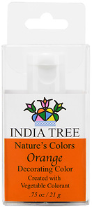 90955 Nature's Colors Orange Decorating Color, Retail Bottle .75 oz