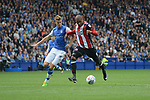 Leon Clarke of Sheffield Utd scores Sheffield United's first and his second during the Championship League match at the Hillsborough Stadium, Sheffield. Picture date 24th September 2017. Picture credit should read: Joe Perch/Sportimage