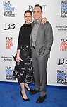 SANTA MONICA, CA - FEBRUARY 25: Actors Amanda Peet; Hank Azaria attends the 2017 Film Independent Spirit Awards at the Santa Monica Pier on February 25, 2017 in Santa Monica, California.