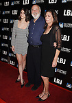 LOS ANGELES, CA - OCTOBER 24:  Director/producer Rob Reiner (C) and his daughter Romy Reiner (L) and his wife Michele Reiner (R) arrive at the premiere of Electric Entertainment's 'LBJ' at the Arclight Theatre on October 24, 2017 in Los Angeles, California.