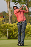 Mohamed ALNOAIMI (BHR) watches his tee shot on 3 during Rd 1 of the Asia-Pacific Amateur Championship, Sentosa Golf Club, Singapore. 10/4/2018.<br /> Picture: Golffile | Ken Murray<br /> <br /> <br /> All photo usage must carry mandatory copyright credit (&copy; Golffile | Ken Murray)