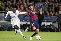 FC Barcelona's Marc Bartra (r) and Paris Saint-Germain's Blaise Matuidi during Champions League 2014/2015 match.December 10,2014. (ALTERPHOTOS/Acero) /NortePhoto