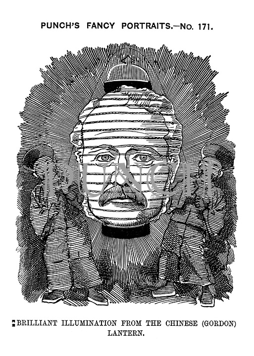 Punch's Fancy Portraits. - No. 171. Brilliant illumination from the Chinese (Gordon) lantern.
