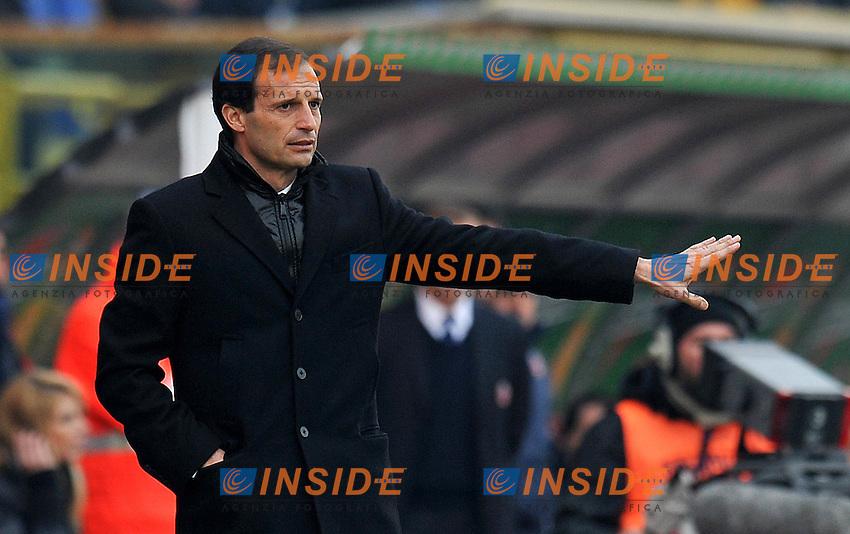 """Massimiliano ALLEGRI (Milan).Bologna 11/12/2011 Stadio """"Renato Dall Ara"""".Serie A 2011/2012.Football Calcio Bologna Vs Milan.Foto Insidefoto Alessandro Sabattini."""