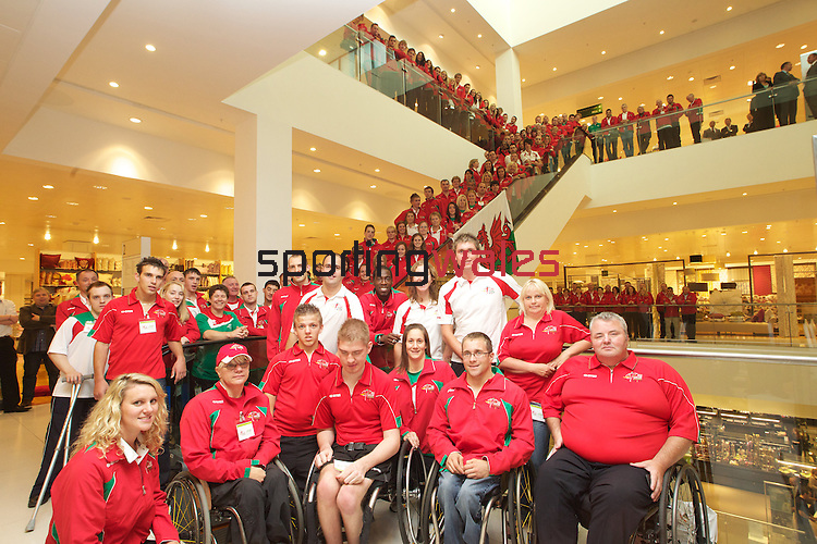 Delhi 2010 Commonwealth Games..The Wales team that will be heading off to India to compete in the Commonwealth Games led by Captain Michaela Breeze at a reception hosted by John Lewis in Cardiff..09.09.10.©Steve Pope...