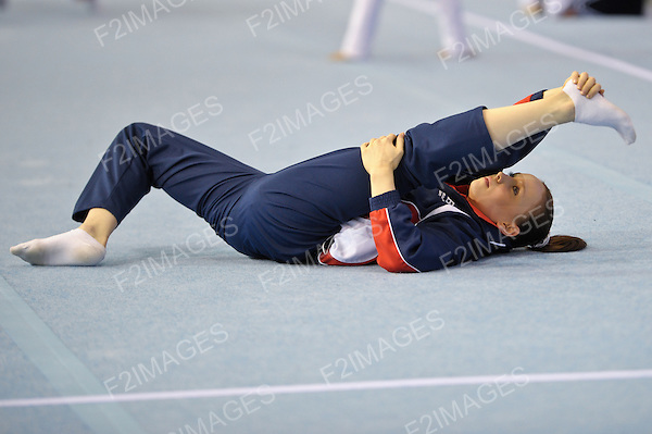 16.04.2011 Glasgow World Cup Gymnastics.Kelvin Hall Glasgow. Hannah Whelen (GBR) in action
