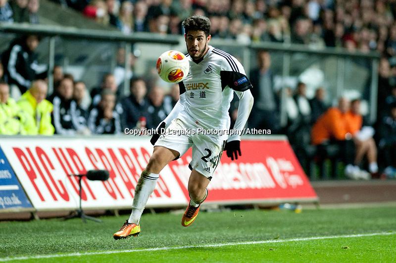 Thursday 28 November  2013  Pictured:Alejandro Pozuelo <br /> Re:UEFA Europa League, Swansea City FC vs Valencia CF  at the Liberty Staduim Swansea