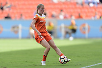 Houston, TX - Saturday May 27, 2017: Janine Beckie passes the ball during a regular season National Women's Soccer League (NWSL) match between the Houston Dash and the Seattle Reign FC at BBVA Compass Stadium.
