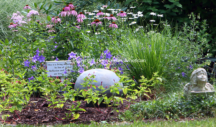 CHESHIRE CT. 19 July 2017-071917SV03-Petit Family Memorial Garden at 300 Sorghum Mill Drive in Cheshire Wednesday.<br /> Steven Valenti Republican-American