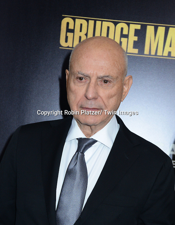 """Alan Arkin attends the World Premiere of """"Grudge Match"""" at the Ziegfeld Theatre in New Yok City on December 16, 2013."""