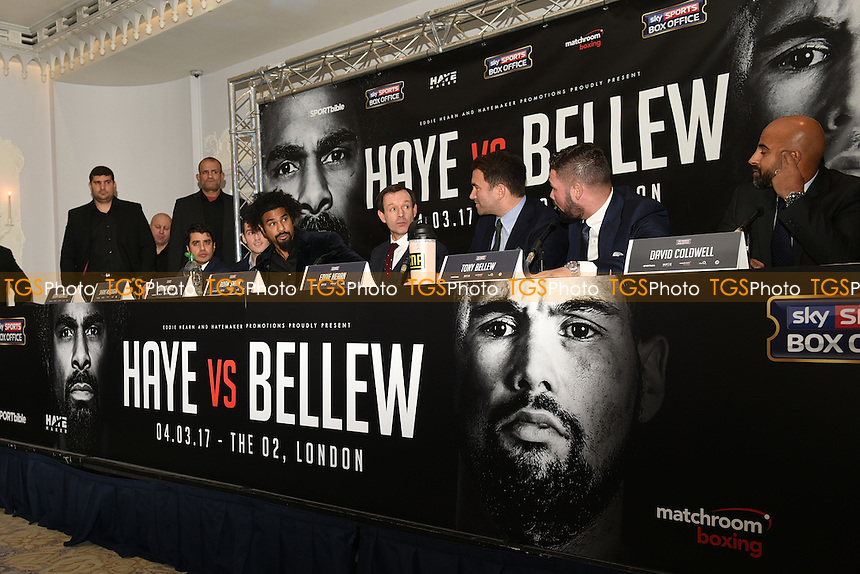 General view during a Matchroom Boxing & Hayemaker Promotions Press Conference at the Dorchester Hotel on 30th November 2016