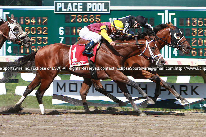 Royal Currier with Joe Bravo aboard win the $100,000 Teddy Drone Stakes for 3-year olds & up going 6 furlongs.  Trainer Patricia Farro.  Owner MAT Stables LLC.