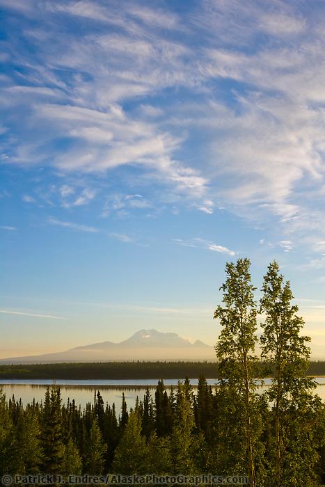 Mount Drum and mount Sanford of the Wrangell Mountains, Wrangell St. Elias National Park, Alaska