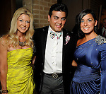 From left: Patti Murphy, Edward Sanchez and Rachel Brown at the Dancing with the Houston Stars, a benefit for Houston Ballet, at the home of Becca and John Thrash Tuesday May 10,2011.(Dave Rossman/For the Chronicle)