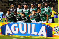 CALI - COLOMBIA - 05 - 05 - 2017:  Los jugadores de Deportivo Cali, posan para una foto, durante partido de la fecha 16 entre Deportivo Cali y Jaguares F.C., por la Liga Aguila I-2017, jugado en el estadio Deportivo Cali (Palmaseca) de la ciudad de Cali. / The players of Deportivo Cali, pose for a photo, during a match of the date 16th between Deportivo Cali and Jaguares F.C., for the Liga Aguila I-2017 at the Deportivo Cali (Palmaseca) stadium in Cali city. Photo: VizzorImage  / Nelson Rios / Cont.in Cali city. Photo: VizzorImage  / Nelson Rios / Cont.
