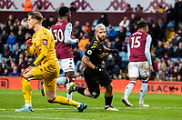 Manchester City's Sergio Aguero (centre) celebrates scoring his side's sixth goal  <br /> <br /> Photographer Andrew Kearns/CameraSport<br /> <br /> The Premier League - Aston Villa v Manchester City - Sunday 12th January 2020 - Villa Park - Birmingham<br /> <br /> World Copyright © 2020 CameraSport. All rights reserved. 43 Linden Ave. Countesthorpe. Leicester. England. LE8 5PG - Tel: +44 (0) 116 277 4147 - admin@camerasport.com - www.camerasport.com