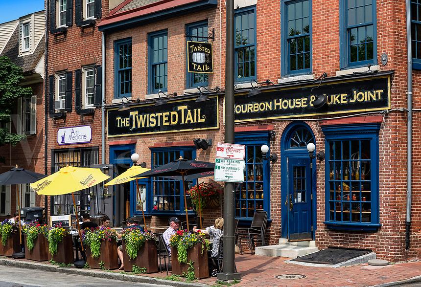 The Twisted Tail Bourbon House, Old City, Philadelphia, Pennsylvania, USA.