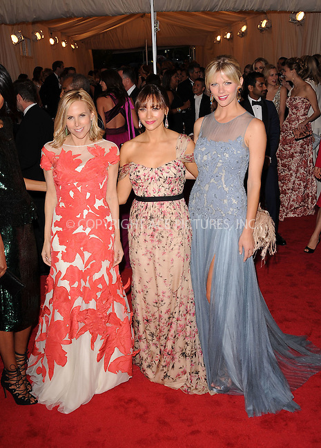 WWW.ACEPIXS.COM . . . . . ....May 7 2012, New York City....Tory Burch, Rashida Jones and Brooklyn Decker arriving at the 'Schiaparelli And Prada: Impossible Conversations' Costume Institute Gala at the Metropolitan Museum of Art on May 7, 2012 in New York City.....Please byline: KRISTIN CALLAHAN - ACEPIXS.COM.. . . . . . ..Ace Pictures, Inc:  ..(212) 243-8787 or (646) 679 0430..e-mail: picturedesk@acepixs.com..web: http://www.acepixs.com