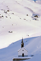 Church in Alpine ski resort of Klosters, Switzerland