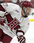 Viktor Dombrovskiy (Harvard - 27) - The Harvard University Crimson defeated the St. Lawrence University Saints 6-3 (EN) to clinch the ECAC playoffs first seed and a share in the regular season championship on senior night, Saturday, February 25, 2017, at Bright-Landry Hockey Center in Boston, Massachusetts.