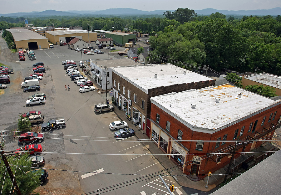 Downtown Crozet, VA.. Photo/Andrew Shurtleff