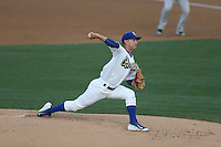 Pablo Fernandez (31) of the Rancho Cucamonga Quakes pitches during a game against the High Desert Mavericks at LoanMart Field on August 18, 2015 in Rancho Cucamonga, California. High Desert defeated Rancho Cucamonga, 4-0. (Larry Goren/Four Seam Images)