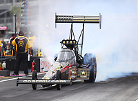 Oct 28, 2016; Las Vegas, NV, USA; NHRA top fuel driver Tony Schumacher during qualifying for the Toyota Nationals at The Strip at Las Vegas Motor Speedway. Mandatory Credit: Mark J. Rebilas-USA TODAY Sports